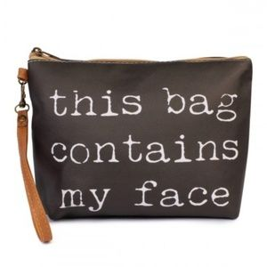 My Face Cosmetic bag; NWT
